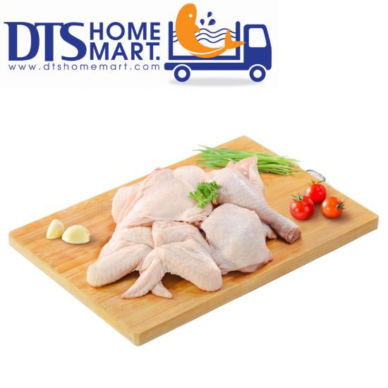 ORGANIC Halal Half Chicken Pack Cut 6pcs (800gm)
