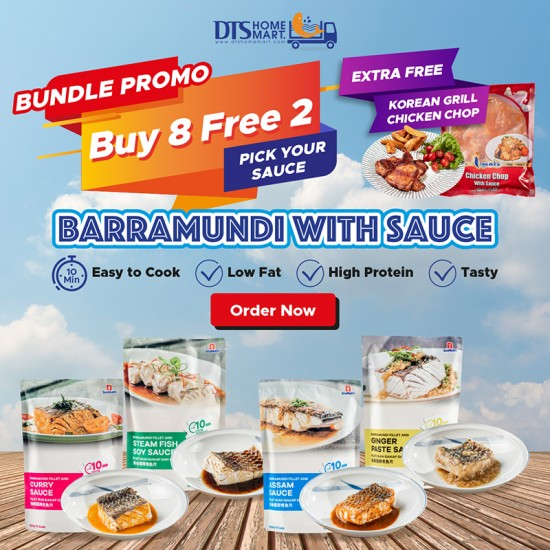 Buy 8 Free 2 + Free Korean Chicken Chop - Barramundi Fish with Sauce @ Easy-to-Cook